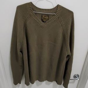 Lucky brand XL olive long sleeve knit sweater